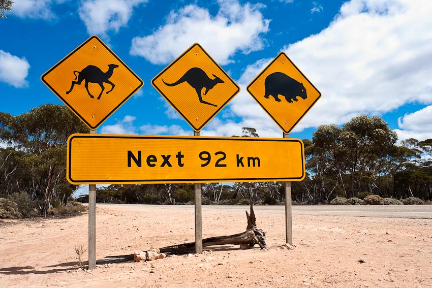 Das vielleicht berühmteste Strassenschild Australiens