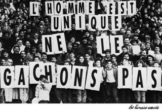 L'Homme est unique, ne le gâchons pas, Les Humains Associés (Paris, 1987)