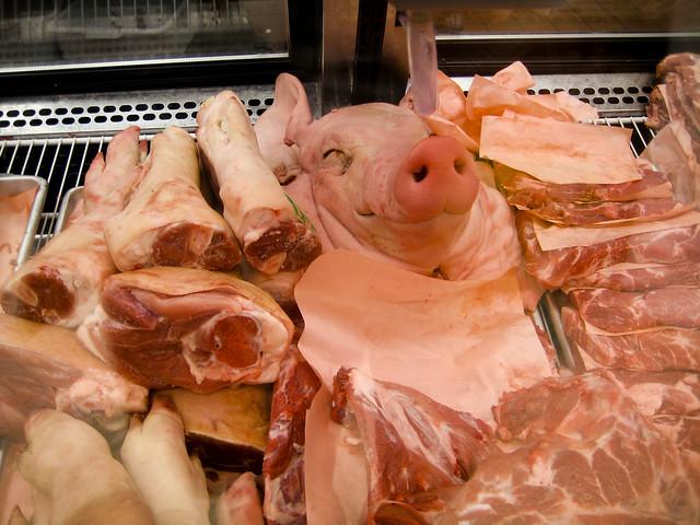 Happy Looking Dead Pig