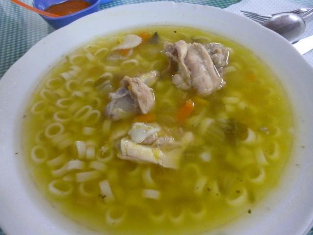 A hearty sopa a la minuta in Nasca.