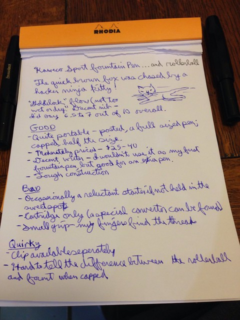 Kaweco Sport: Writing Sample