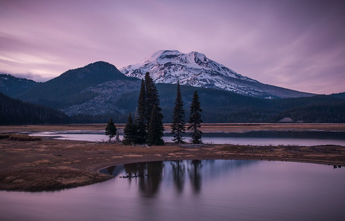Sparks Lake Cool Sunset
