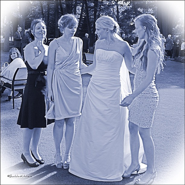 June 16 - family {these are our daughters, though the family is much bigger} #fmsphotoaday #family #daughters #wedding @amandafowler1026 @missyfowler47