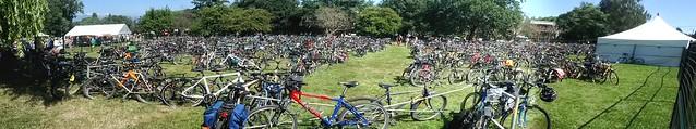 Bike Parking at the Folk Fest