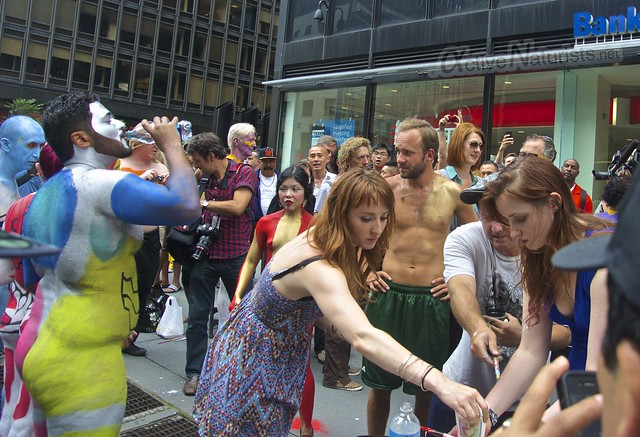 naturist 0002 body paint art, Times Square, New York, NY, USA