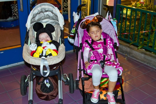Mickey and Minnie are tired