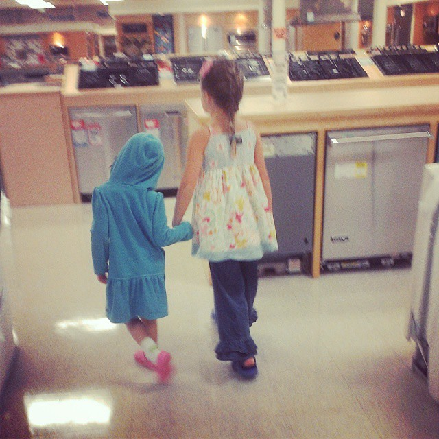 Taking 3 kids to the appliance store is like chasing ferral cats. Good times. :-)