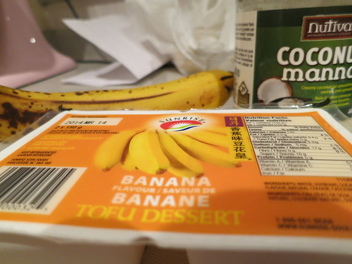 Banana coconut tofu cheesecake