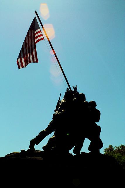 Marine Corps Memorial aka Iwo Jima Memorial, Arlington, VA.