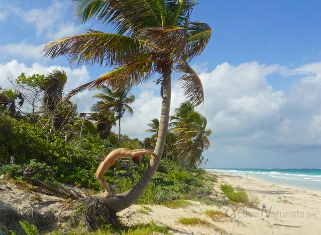 naturist 0003 Sian Kaan beach, Quintana Roo, Mexico