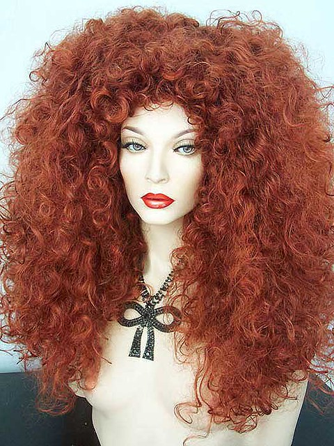 Long Curly Fox Red Drag Wig Flickr Photo Sharing