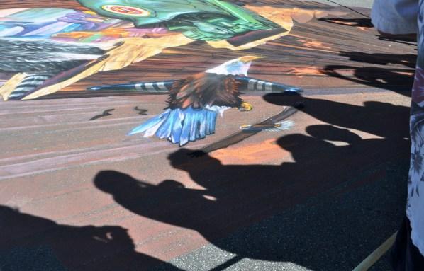 Shadows during the 2013 Sarasota Chalk Festival, Florida, Nov. 17, 2013