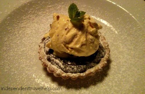 Pudding 2 of 5 Chocolate Tart with Honeycomb Ice Cream