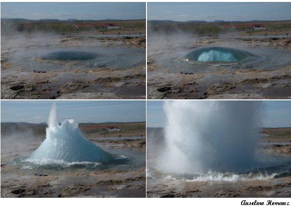 Erupción del Strokkur - Islandia