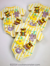 Clothes-line teddy onesie