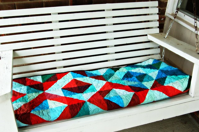 Lava Meets Sea Quilt Porch Swing Cushion