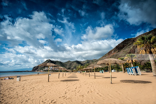 The beach in San Andrés, Tenerife. by geirkristiansen.net.