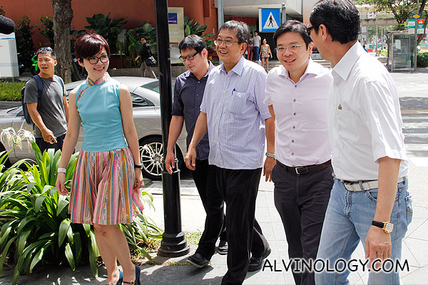 Minister Lawrence Wong arriving at Shanghai Dolly