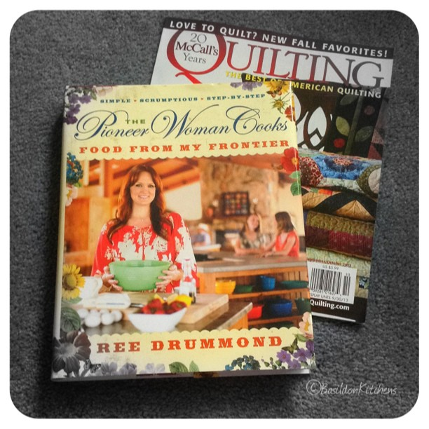 July 28 - this is new {new cookbook & new magazine} #fmsphotoaday #new #cookbook #quilting #cooking #reedrummond #pioneerwoman #mccalls