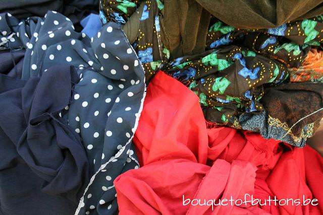 fabric pile, stoffenhoop