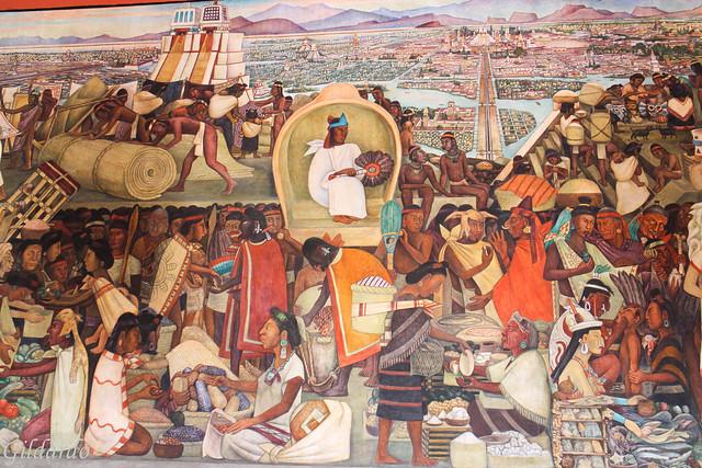 Murales de Diego Rivera, Palacio Nacional