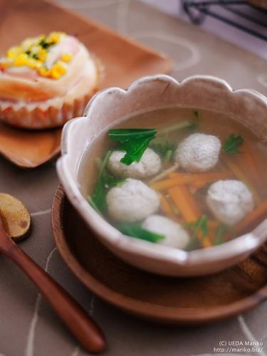 梅鶏ボールスープ 20170304-DSCT2481-1
