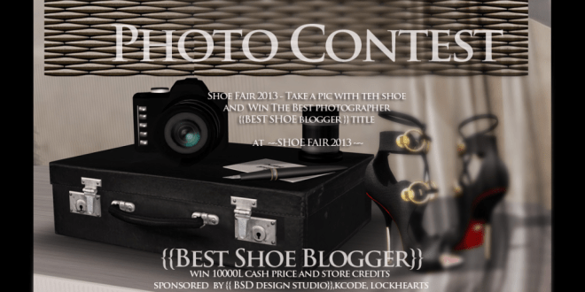 shoe fair photo contest flyer