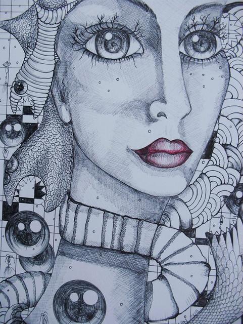 Surrealist contemporary painter Alexandra Hahn