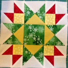 Jingle pieced block 7