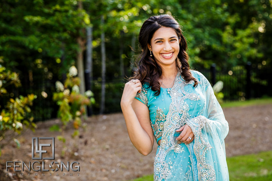 Indian wedding bridal portraits at Ashton Gardens