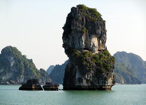 Rock Formation seen while cruising Ha Long Bay in Vietnam