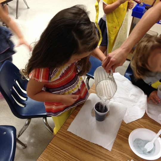 turning solids into liquids at kindercare
