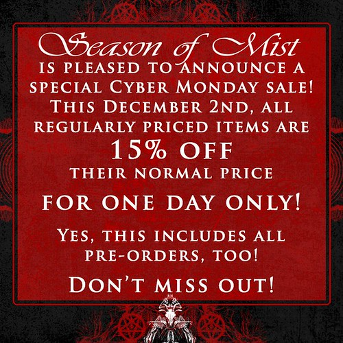 Season Of Mist Cyber Monday Sale