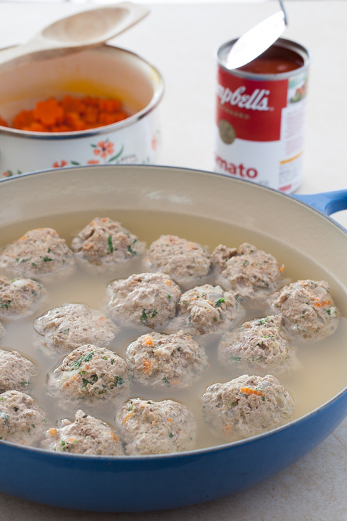 Tomato Soup with Meatballs 1