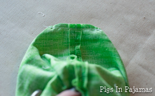 Green ditty bag corner clipped