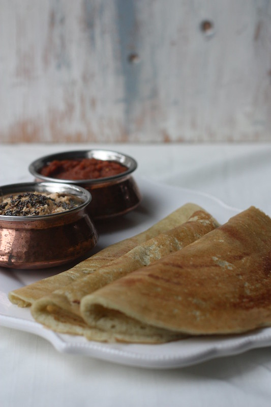 DOSA with PEANUT CHUTNEY(a perfect South Indian breakfast)1