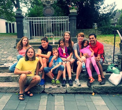 friends, Drachenfels, Rhine