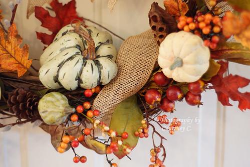 Fall Harvest Wreath Detail