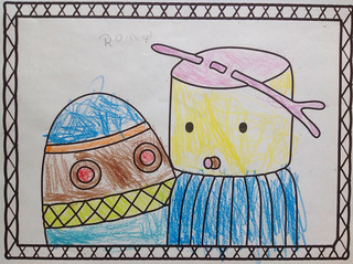 Digit & Boo, coloring by Roman