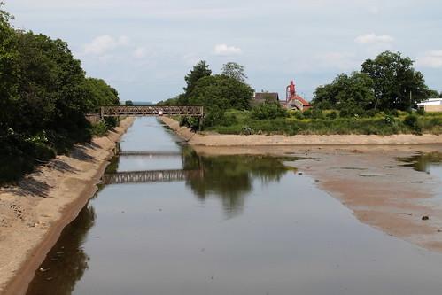 Vraňansko-hořínskí plavební kanál, post flood, towards Hořín.