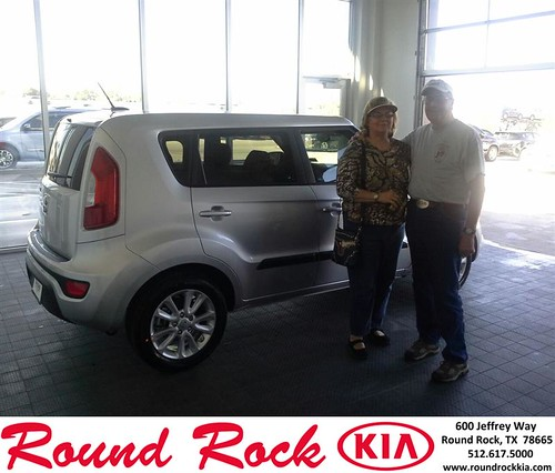 Thank you to Homer And Diane Smith on your new 2013 #Kia #Soul from Eric Armendariz and everyone at Round Rock Kia! #LoveMyNewCar by RoundRockKia