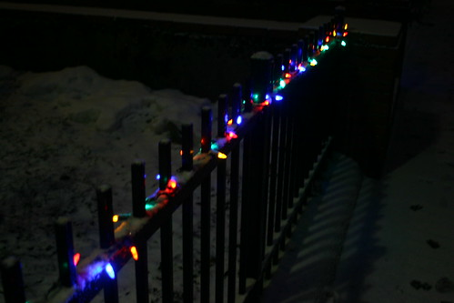a string of color lights