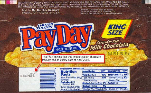 Limited Edition Chocolate PayDay Wrapper, 2006