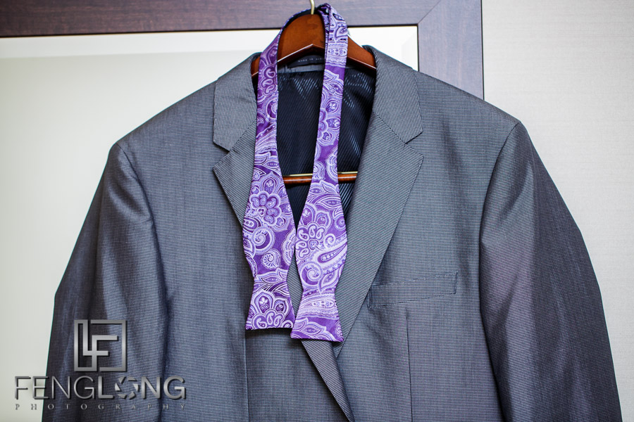Groom's suit jacket for the Indian Ismaili wedding reception