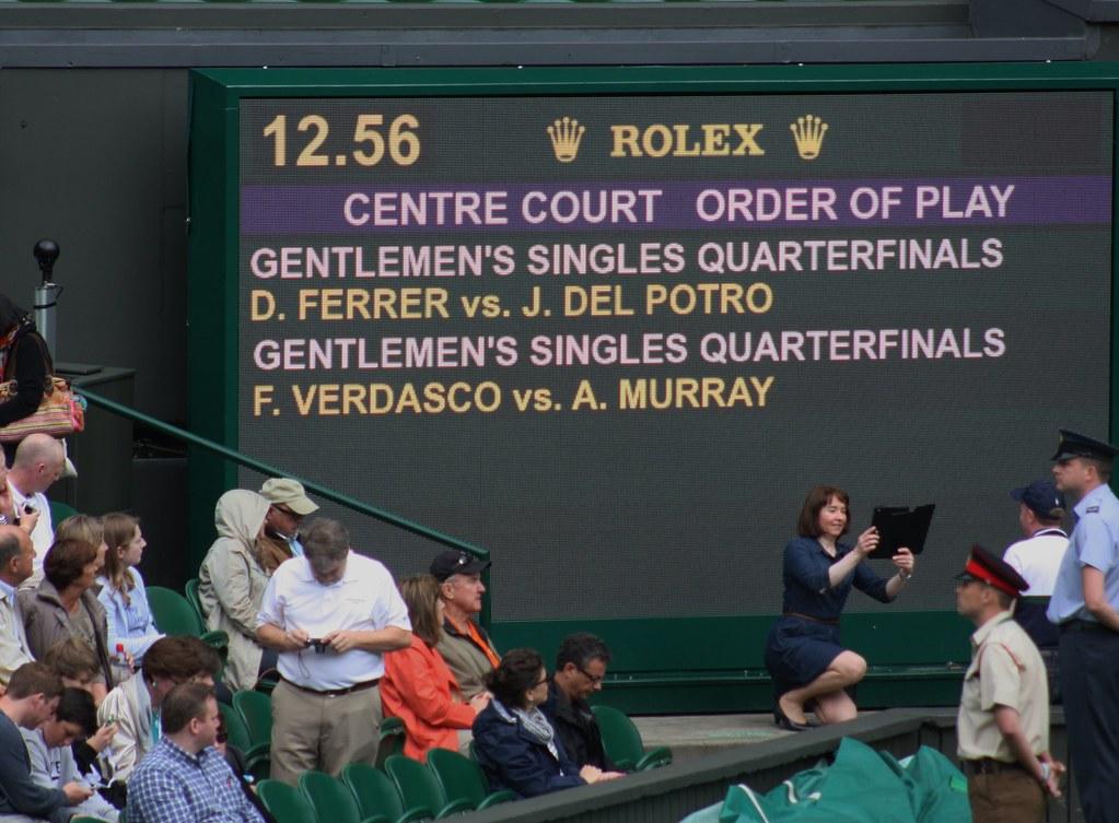 Wimbledon Centre Court line up