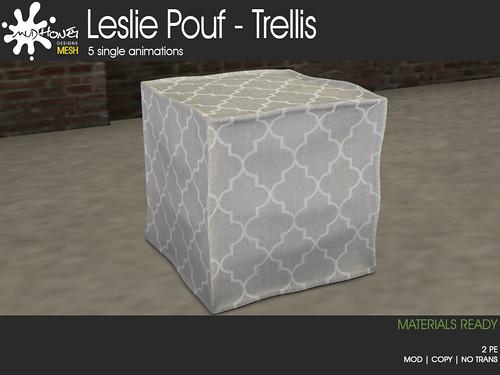 MudHoney Leslie Pouf - Trellis