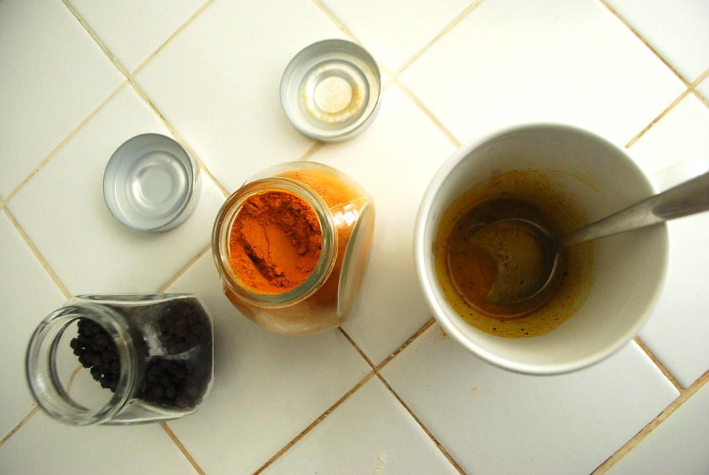 slurry of milk, honey, and spices