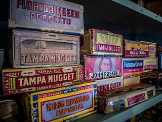 Cigar Boxes at Lone Star BBQ
