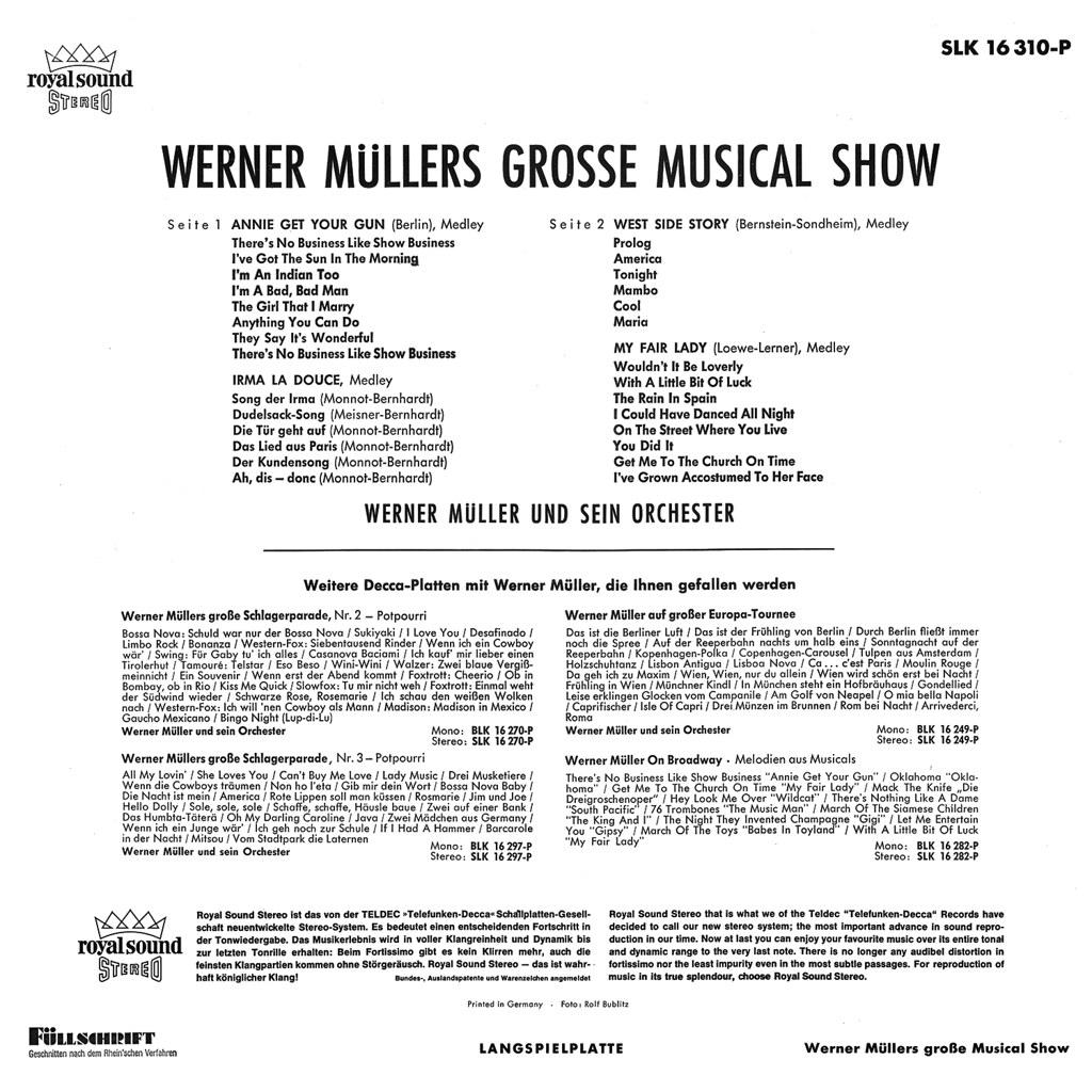 Werner Müller - Grosse Musical Show b