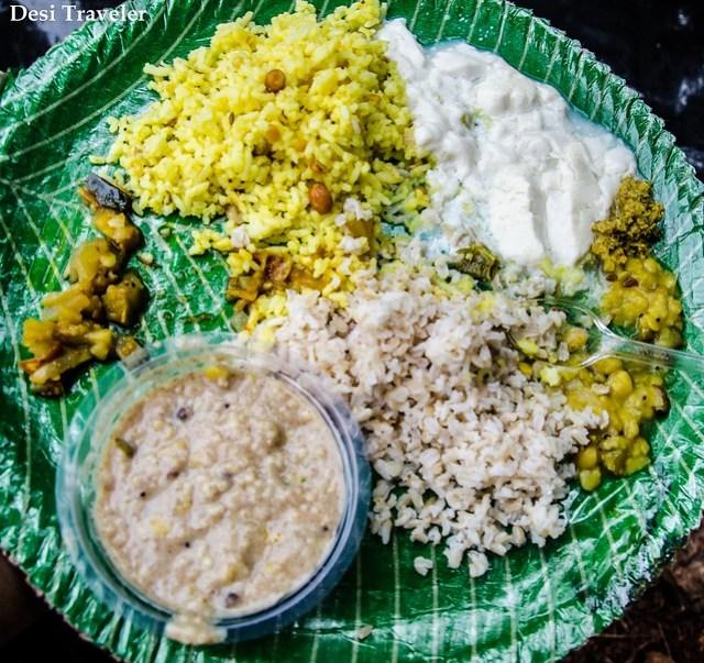 Organic Indian Thali meal